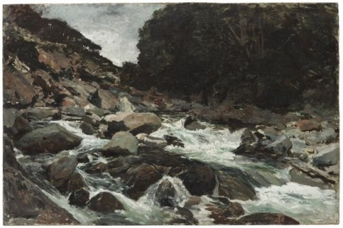 Petrus van der Velden (1837–1913), the Netherlands/New Zealand Mountain Stream, Otira Gorge about 1893, oil on canvas. Gift of Sir Charles Norwood, 1936 (1936-0001-1)